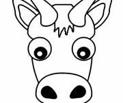 Coloring pages Simple Ox Head
