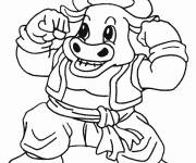 Coloring pages Strong beef
