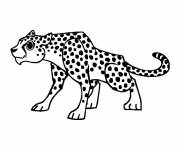 Free coloring and drawings Attentive cheetah Coloring page