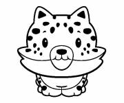 Coloring pages Cute cheetah