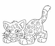 Free coloring and drawings Little Cheetah Coloring page