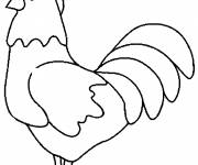 Coloring pages Easy rooster