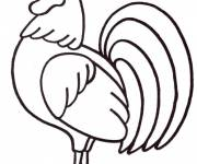 Coloring pages Rooster 1