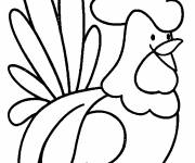 Coloring pages Rooster 18