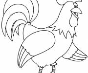 Coloring pages Rooster 6