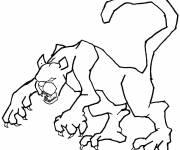 Free coloring and drawings Cougars animal Coloring page