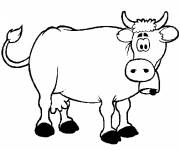 Free coloring and drawings Astonished cow Coloring page