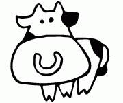 Free coloring and drawings Cow drawing for child Coloring page
