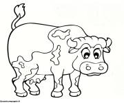 Free coloring and drawings Cow in color Coloring page