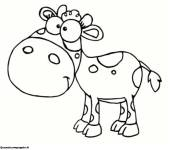 Free coloring and drawings Smiling cow drawing Coloring page