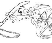 Free coloring and drawings Coyote and Bip Bip cartoon Coloring page