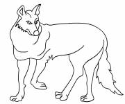 Free coloring and drawings Easy coyote Coloring page