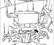 Free coloring and drawings Speedy Gonzales in the mountains Coloring page