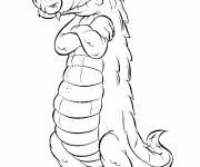Coloring pages Crocodile crossing his arms
