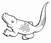 Coloring pages Easy crocodile