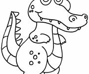 Coloring pages Smiling crocodile