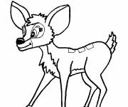 Free coloring and drawings Cute deer Coloring page