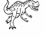 Coloring pages Carnivorous dinosaur