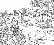 Coloring pages Cartoon dinosaur