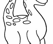 Coloring pages Cute dinosaur