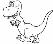 Coloring pages Little dinosaur