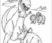 Coloring pages Triceratops dinosaur
