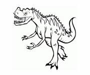Coloring pages Tyrex dinosaur
