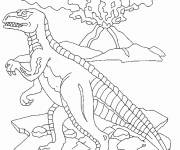 Coloring pages Velociraptor dinosaur