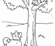 Free coloring and drawings Dog and cat Coloring page