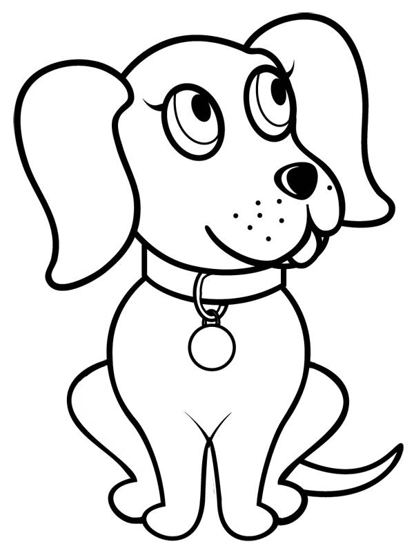 Free coloring and drawings Dog wearing a bell Coloring page
