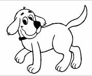 Free coloring and drawings Happy dog Coloring page