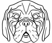 Free coloring and drawings Scary dog head Coloring page