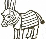 Free coloring and drawings Little donkey Coloring page