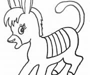 Free coloring and drawings Too cute donkey Coloring page