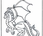 Coloring pages Beautiful dragon