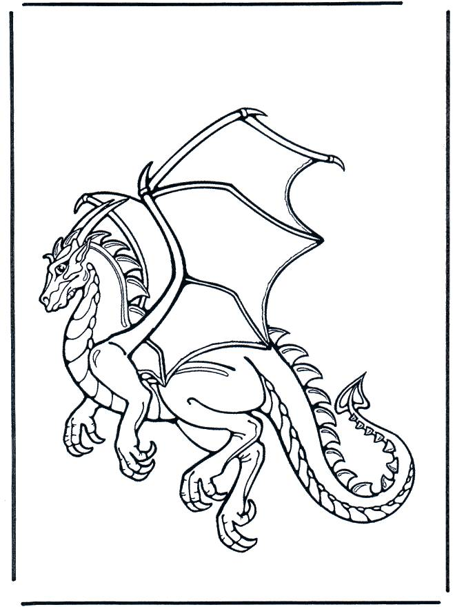 Free coloring and drawings Beautiful dragon Coloring page