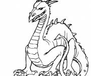 Free coloring and drawings Children's dragon Coloring page