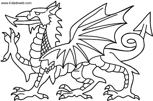 Free coloring and drawings Color dragon Coloring page