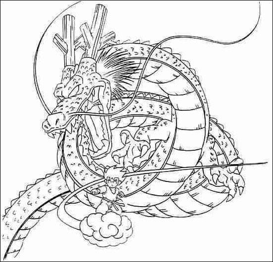 Free coloring and drawings Dragon Ball Z Coloring page