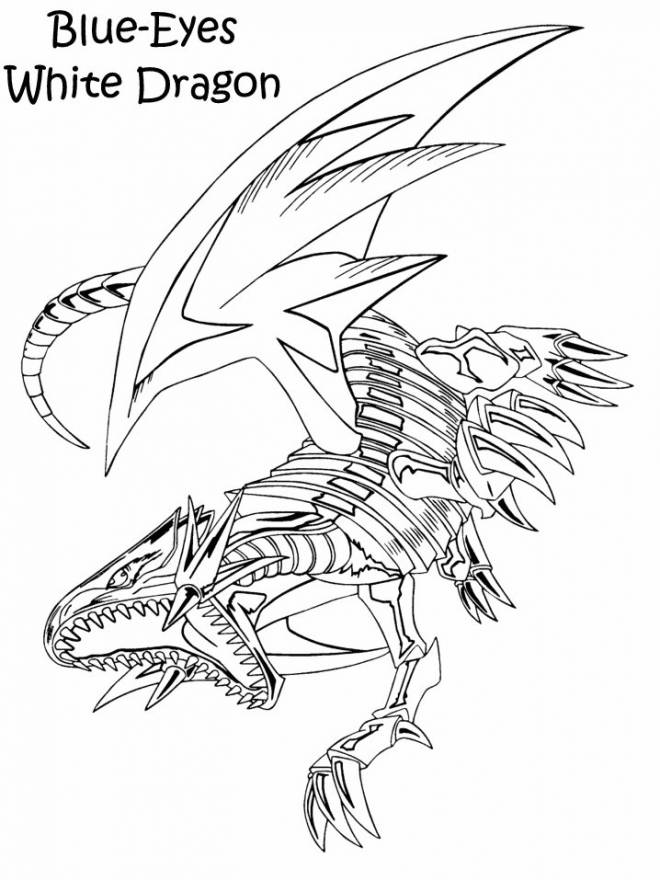 Free coloring and drawings Dragon Blue Eyes Coloring page
