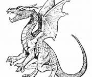 Free coloring and drawings Dragon online Coloring page