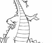 Free coloring and drawings Dragon with crones Coloring page
