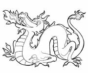 Free coloring and drawings Drawing of  dragon Coloring page