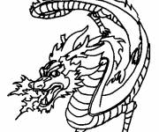 Coloring pages fire Dragon