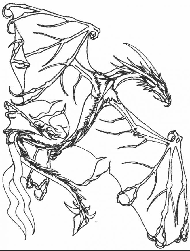 Free coloring and drawings Imaginary dragon Coloring page