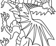 Coloring pages Japanese dragon