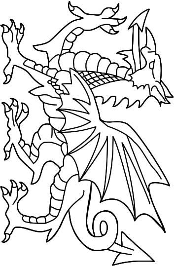 Free coloring and drawings Japanese dragon Coloring page