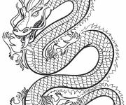 Coloring pages Legendary chinese dragon