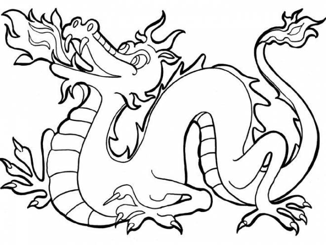 Free coloring and drawings Legendary little dragon Coloring page