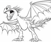 Coloring pages Little Angry Dragon